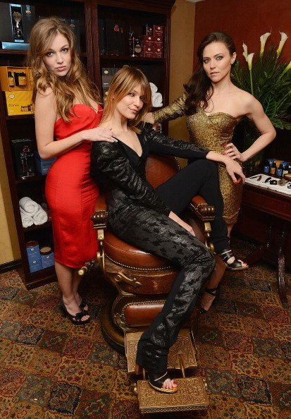 The ladies of 'Banshee', Lili Simmons, Ivana Milicevic, and UNCSA alum Trieste Kelly Dunn.