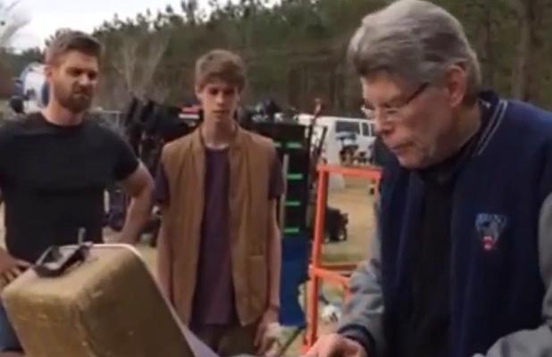 Stephen King on the Wilmington, North Carolina set of 'Under the Dome'.