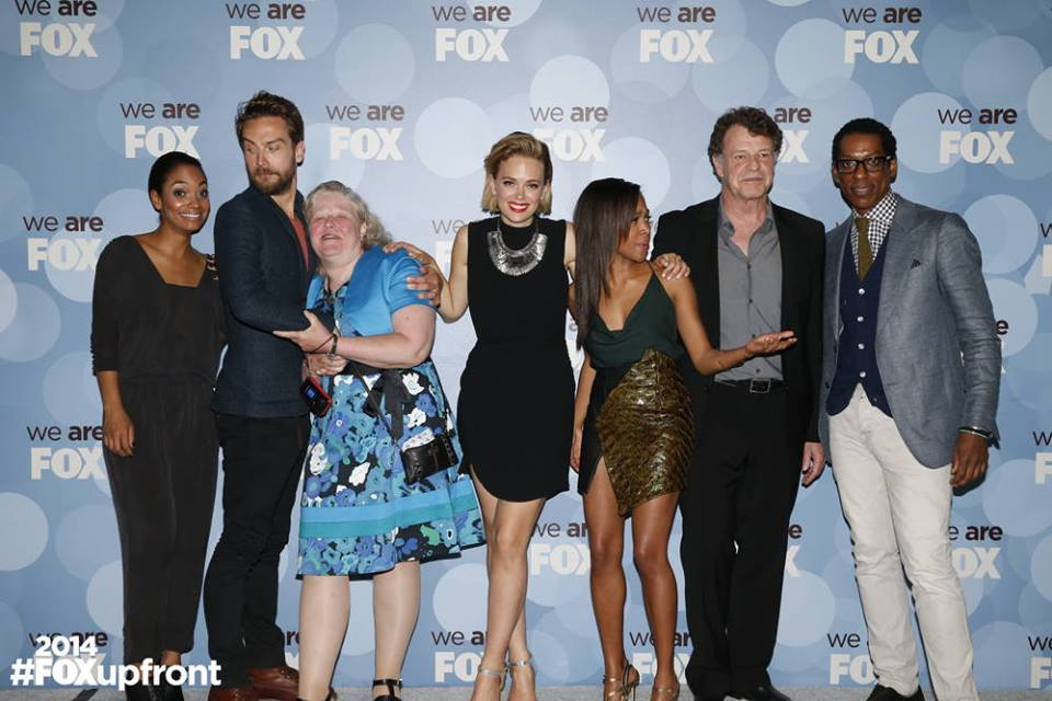 """The cast of 'Sleepy Hollow', with a prize-winning """"super fan"""", in Hollywood."""